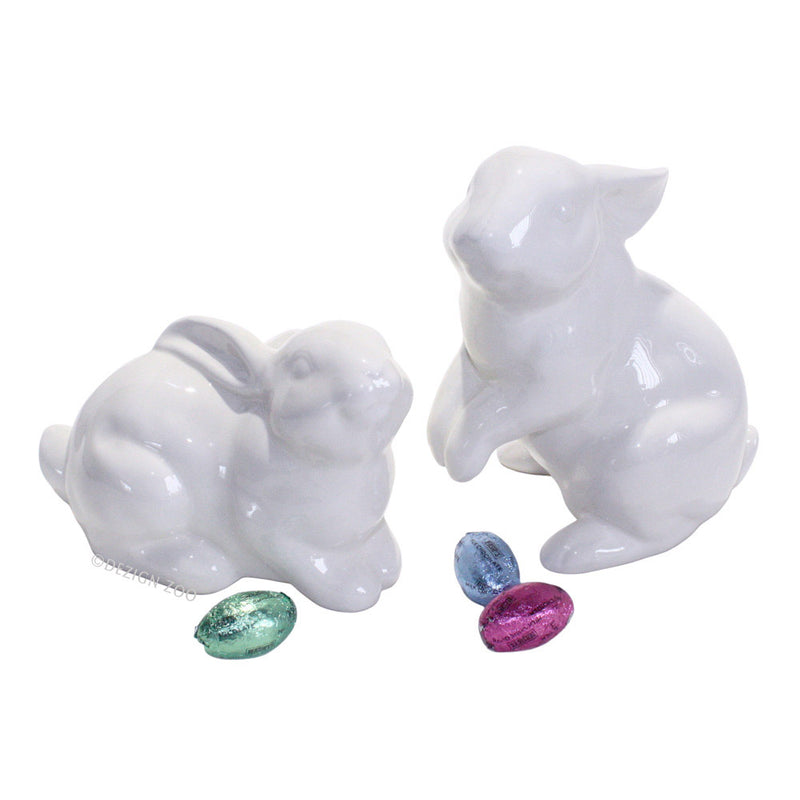 dept 56 white bunny easter figurines