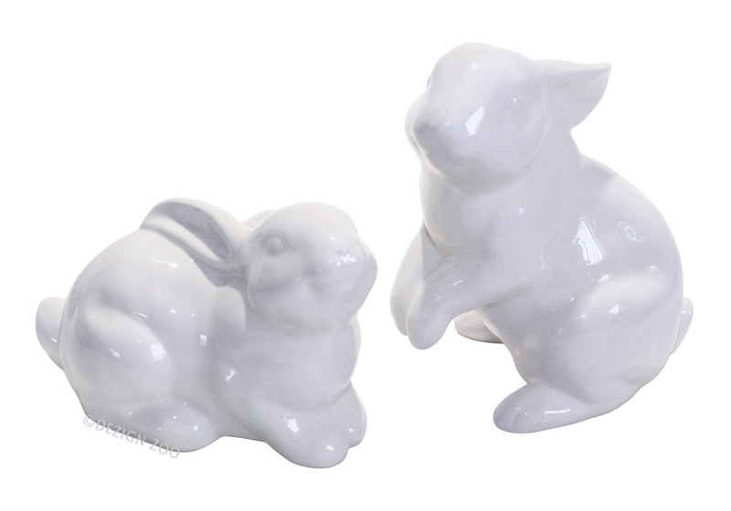 dept 56 white rabbit figurines
