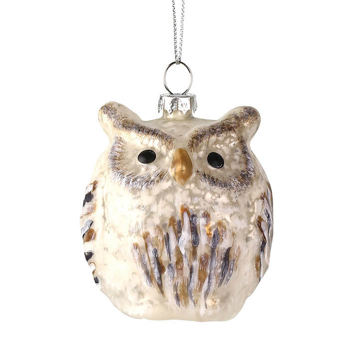 department 56 glass owl ornament
