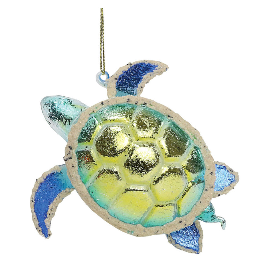 dept 56 foiled glass sea turtle ornament