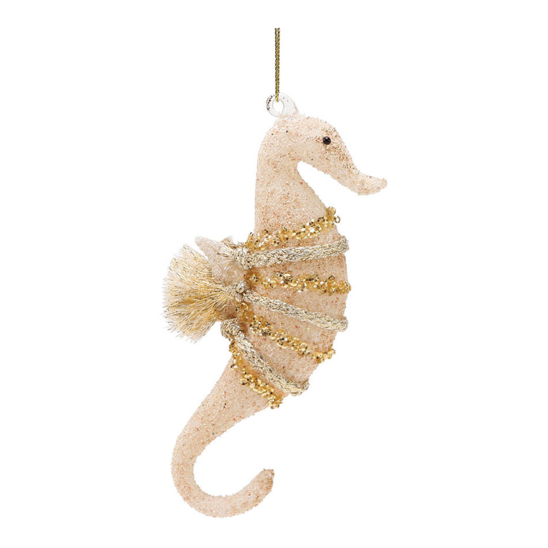 dept 56 sanded glass seahorse ornament