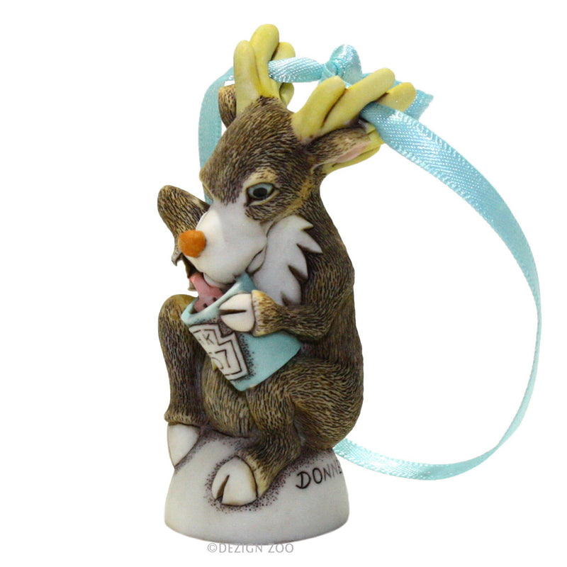 harmony kingdom donner reindeer ornament left side view