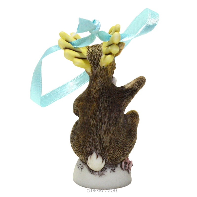 harmony kingdom donner reindeer ornament back view