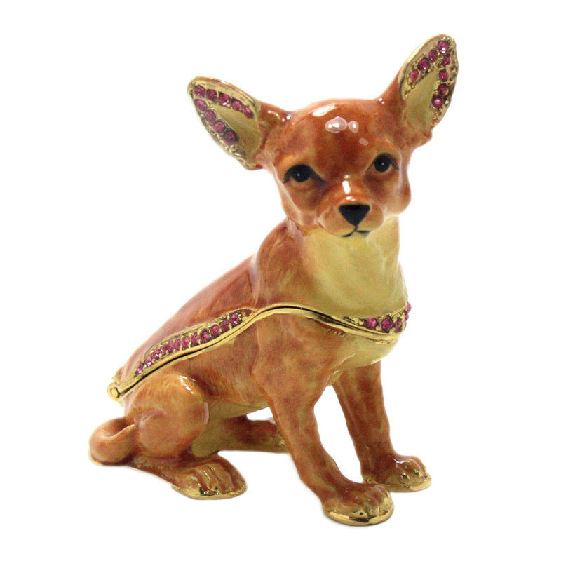 bejeweled chihuahua trinket box