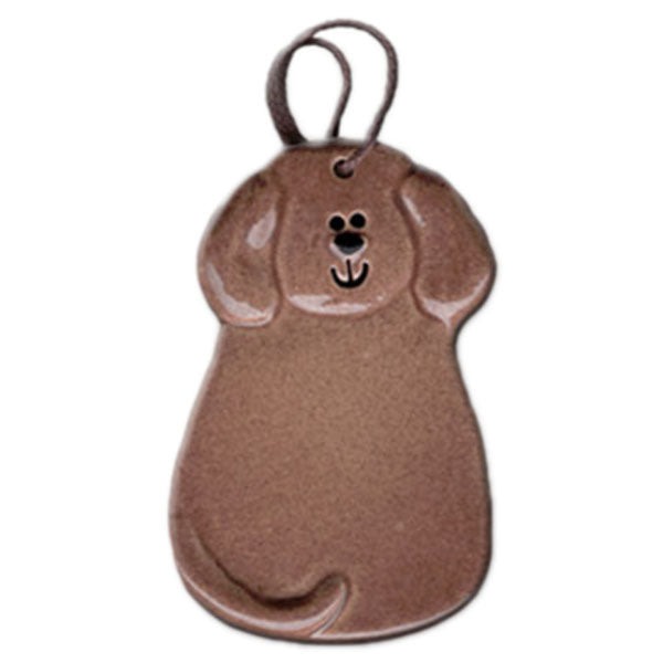 ceramic chocolate lab ornament