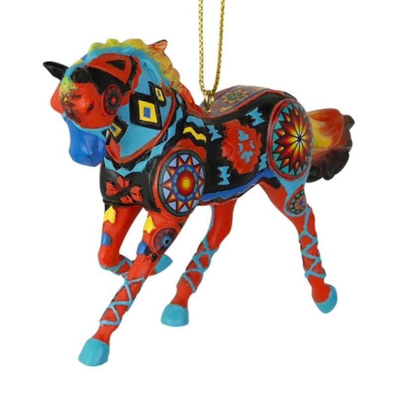 trail of painted ponies the eye dazzler horse ornament front view