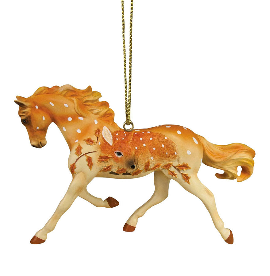 trail of painted ponies fawn memories ornament