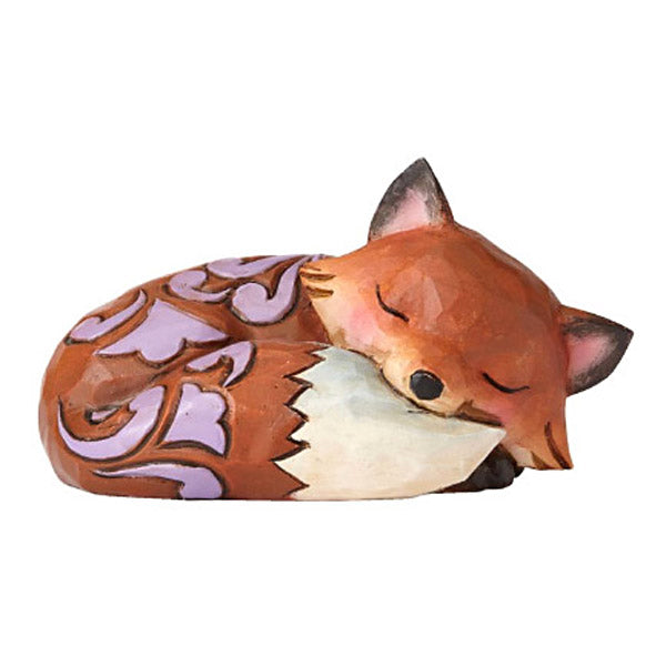 jim shore mini sleeping fox figurine