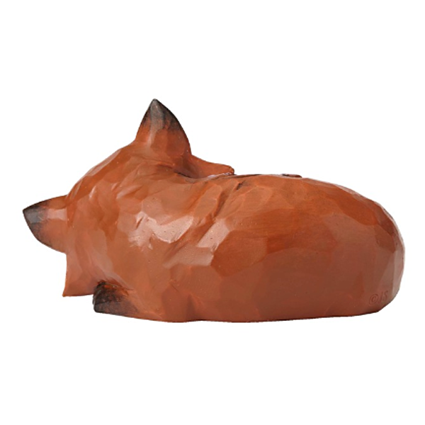 jim shore mini sleeping fox figurine back view