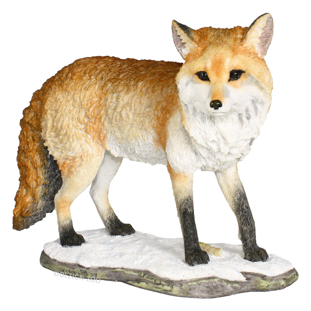 red fox standing figurine