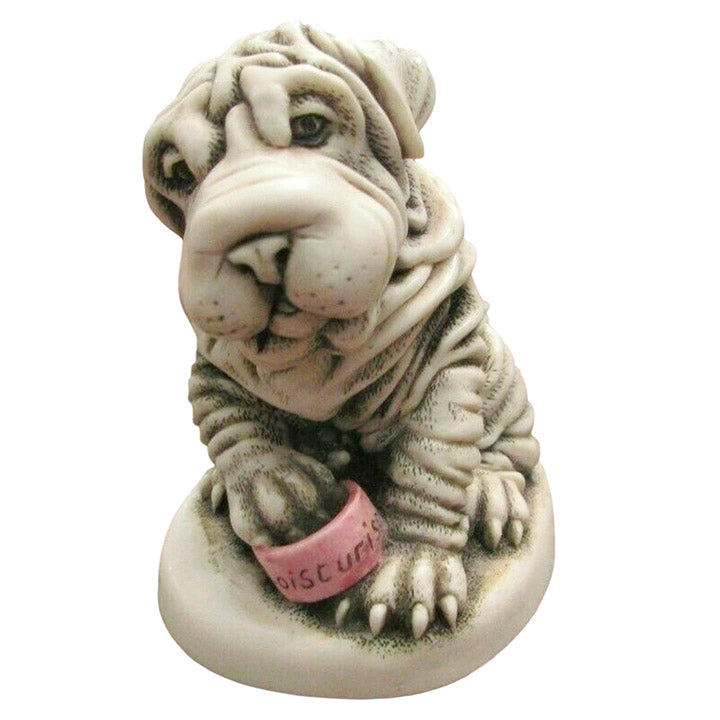 harmony kingdom fuss pot shar-pei treasure jest
