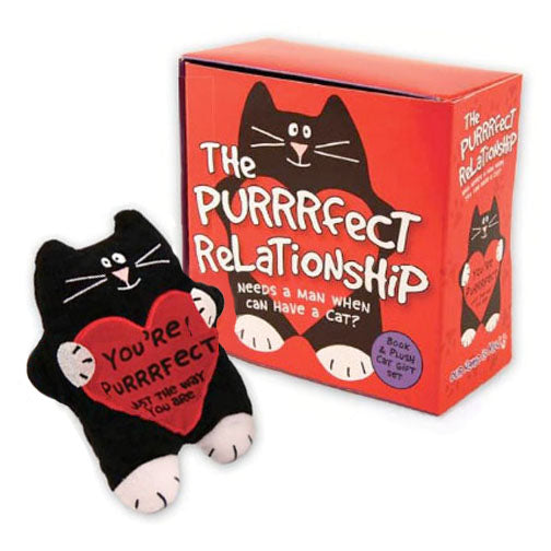 plush cat and book gift set