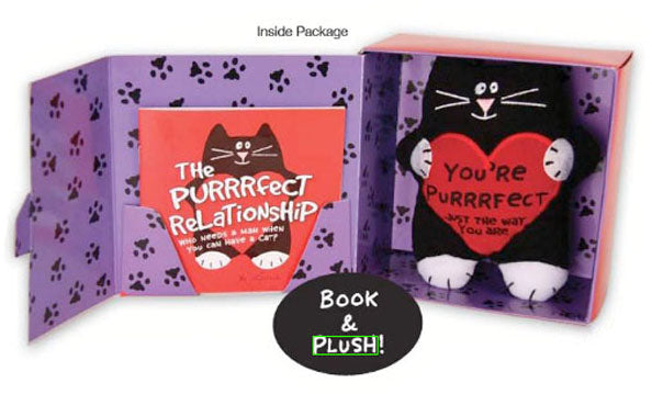 plush cat and book gift set contents