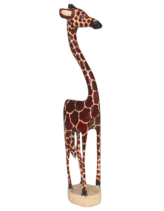 carved wood african giraffe