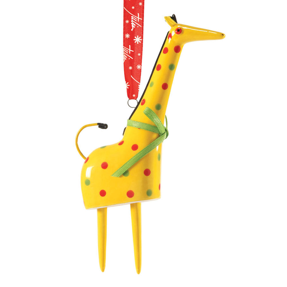 dept 56 giraffe bell ornament