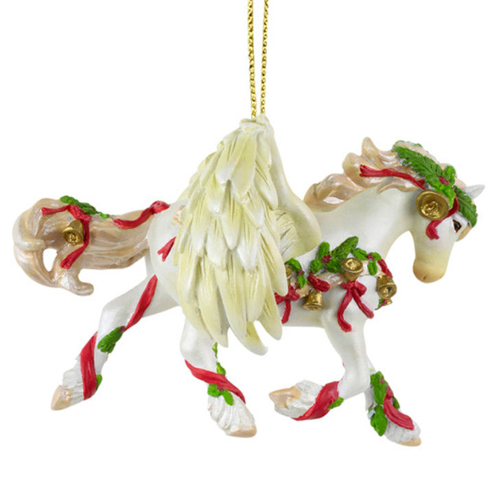 trail of painted ponies gloria christmas horse ornament
