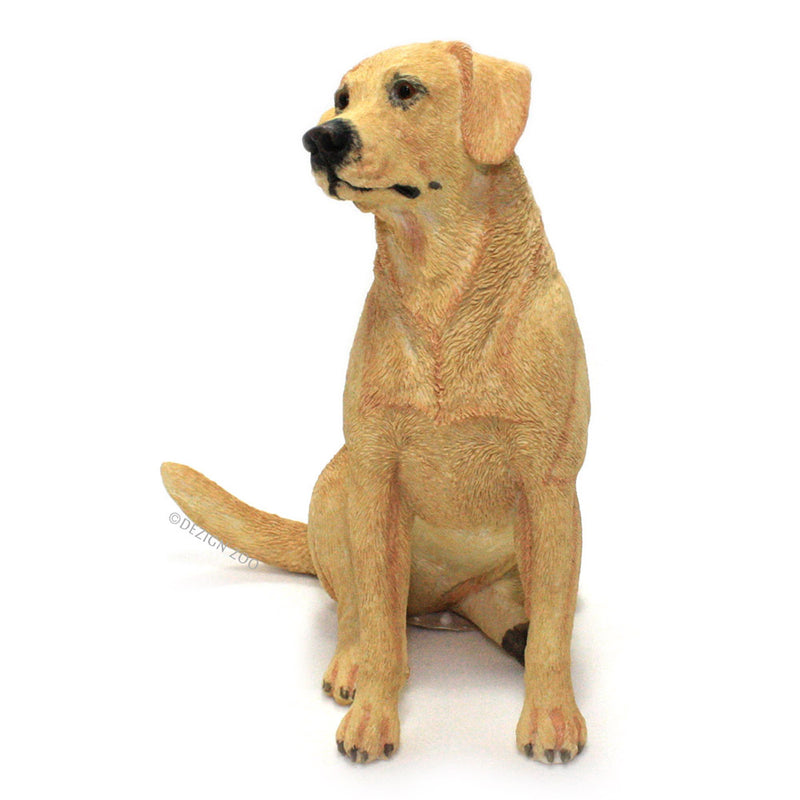 golden yellow labrador dog figurine front view