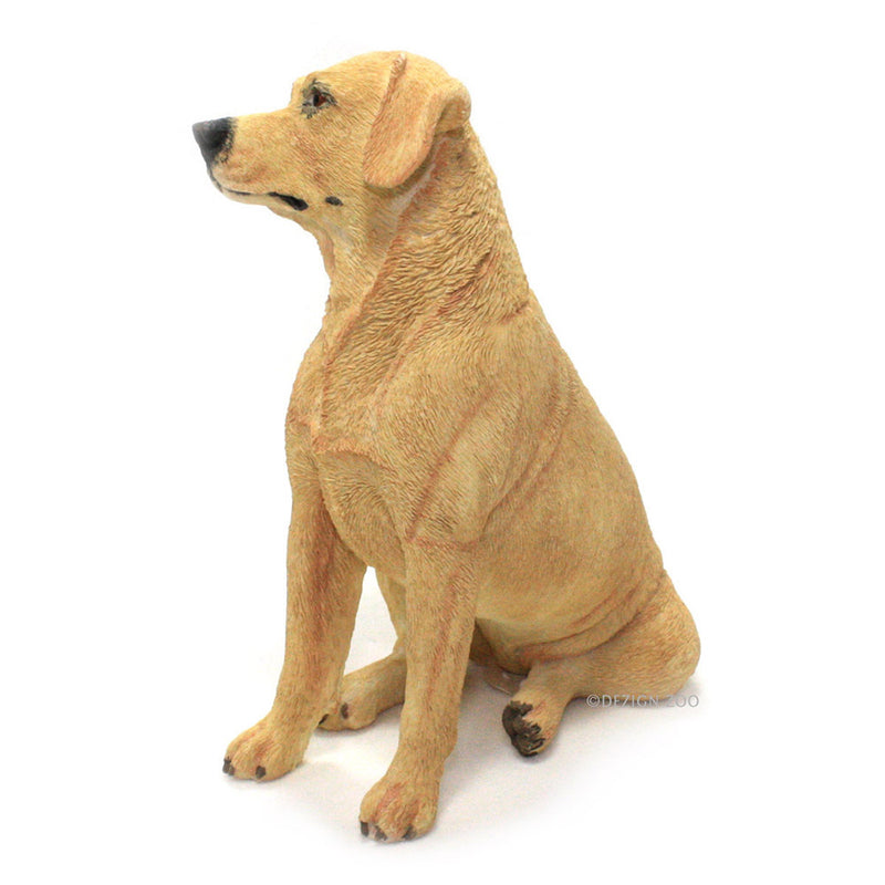 golden yellow labrador dog figurine left side view