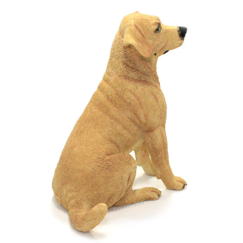 golden yellow labrador dog figurine back view