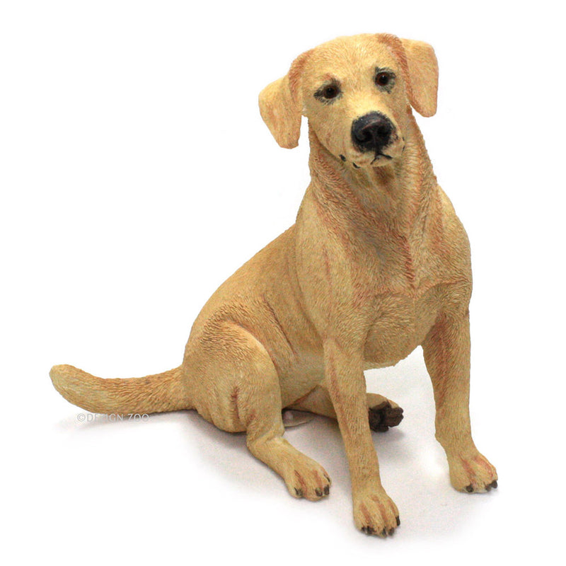golden yellow labrador dog figurine