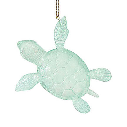 dept 56 green faux sea glass turtle ornament