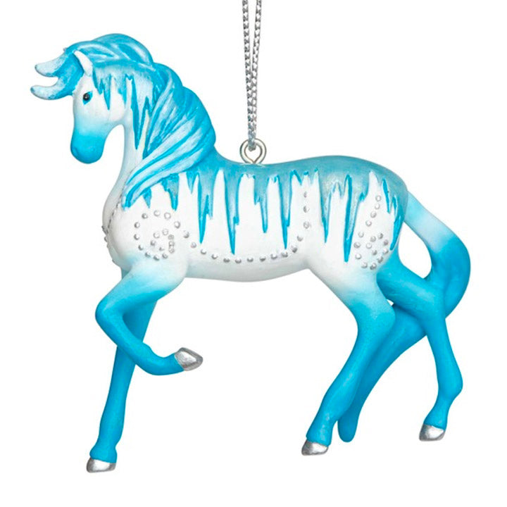 trail of painted ponies holiday ice ornament