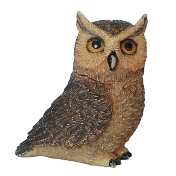 great horn owl pot belly