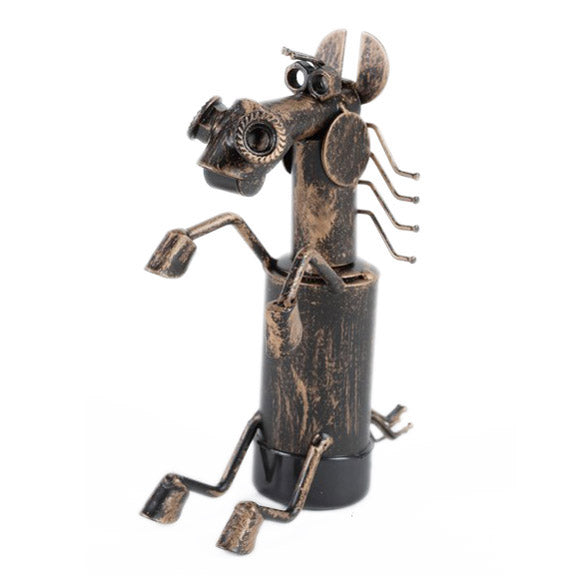 metal sculpture horse bottle topper