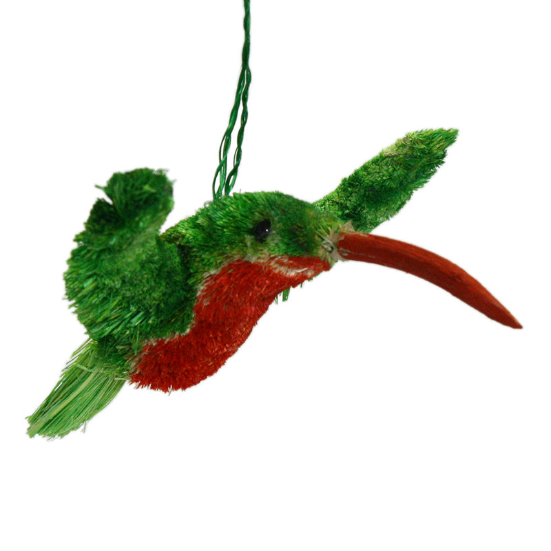 buri brush hummingbird ornament