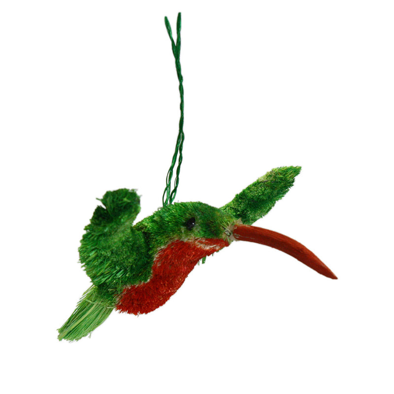 buri brush hummingbird ornament full view