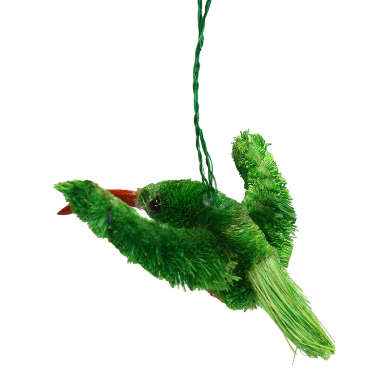 buri brush hummingbird ornament back view