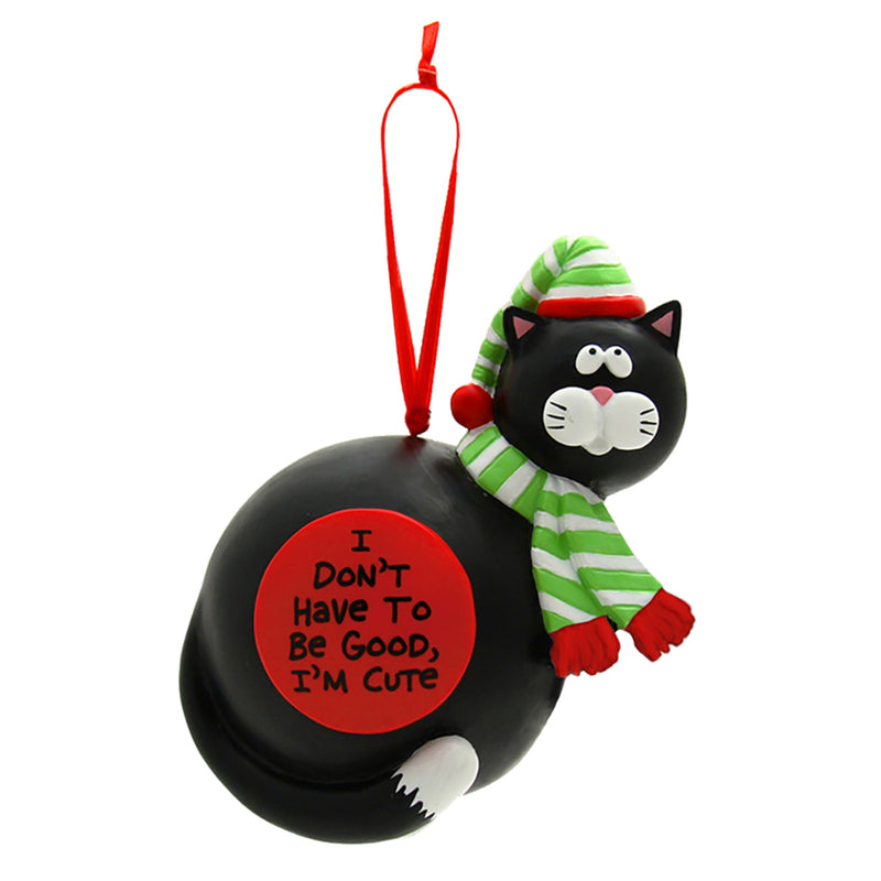 our name is mud I'm cute cat christmas ornament full view