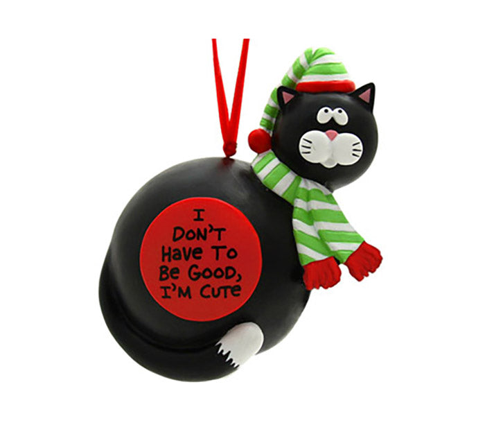 our name is mud I'm cute cat christmas ornament
