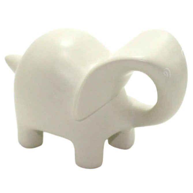 carved ivory soapstone elephant sculpture