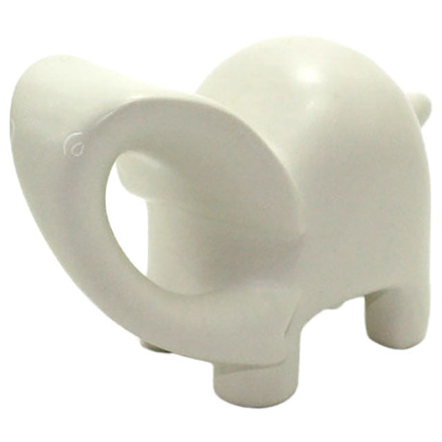 carved ivory soapstone elephant sculpture left side view