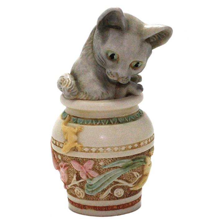 harmony kingdom jardinia cat treasure jest