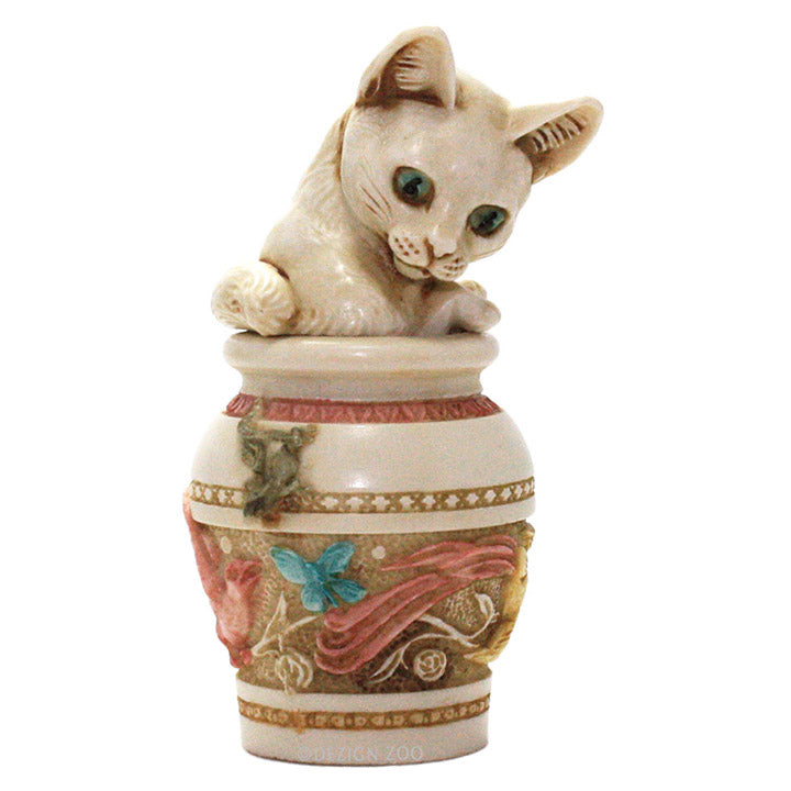 harmony kingdom jardinia white cat in vase