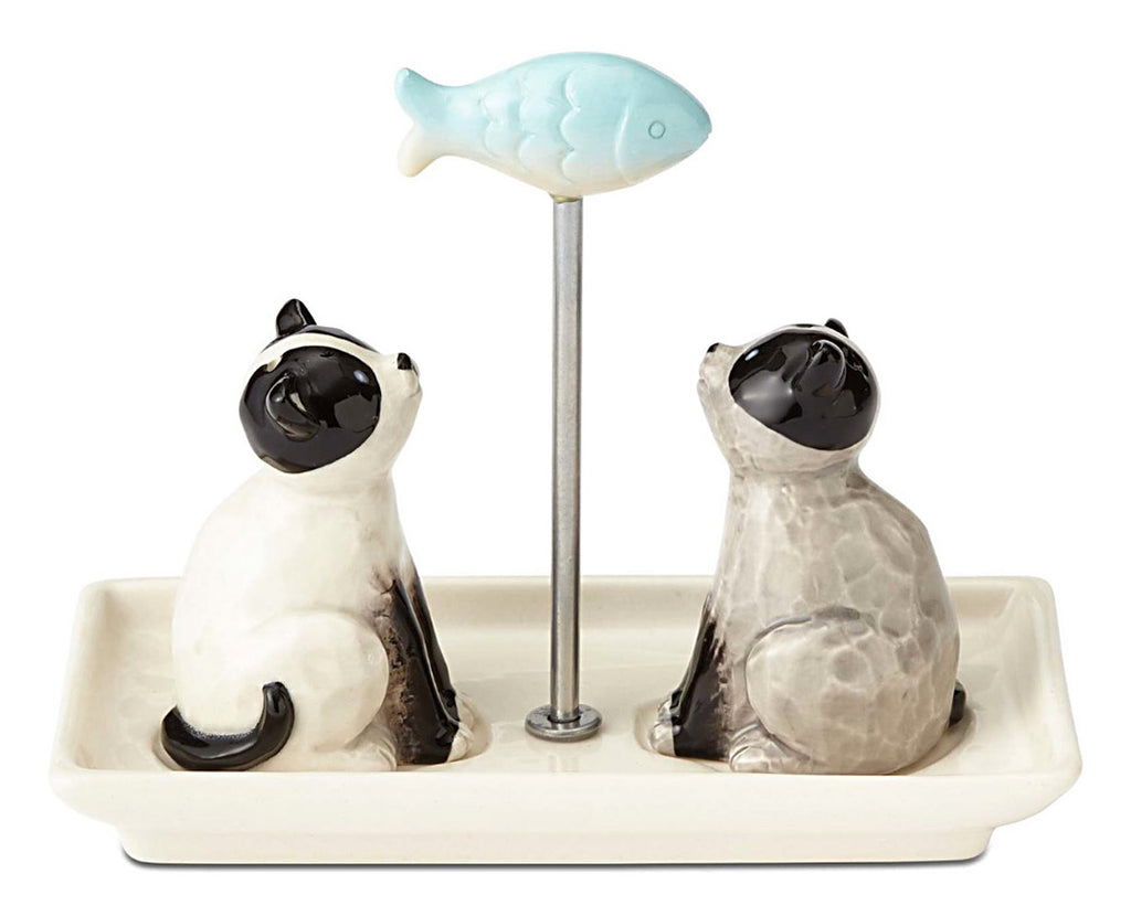 ceramic cat salt and pepper shakers