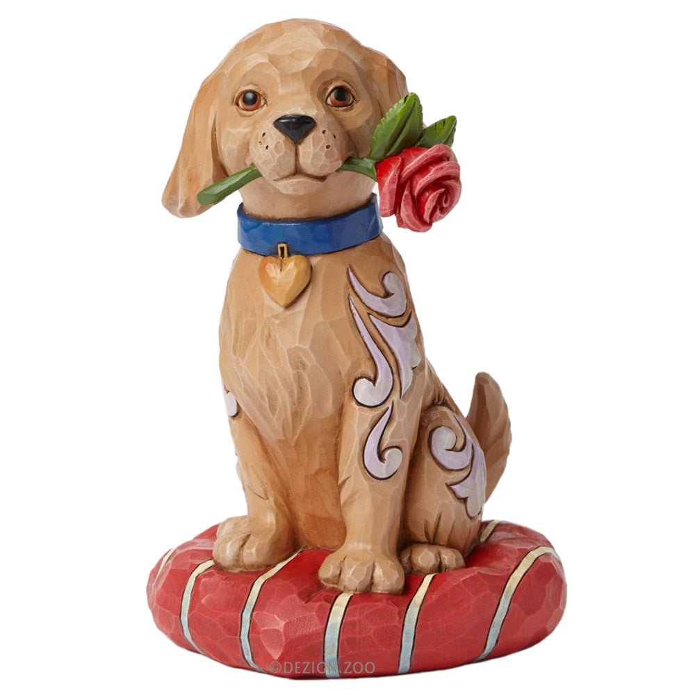 jim shore puppy with rose