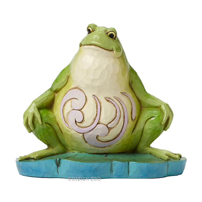 jim shore lazy frog figurine