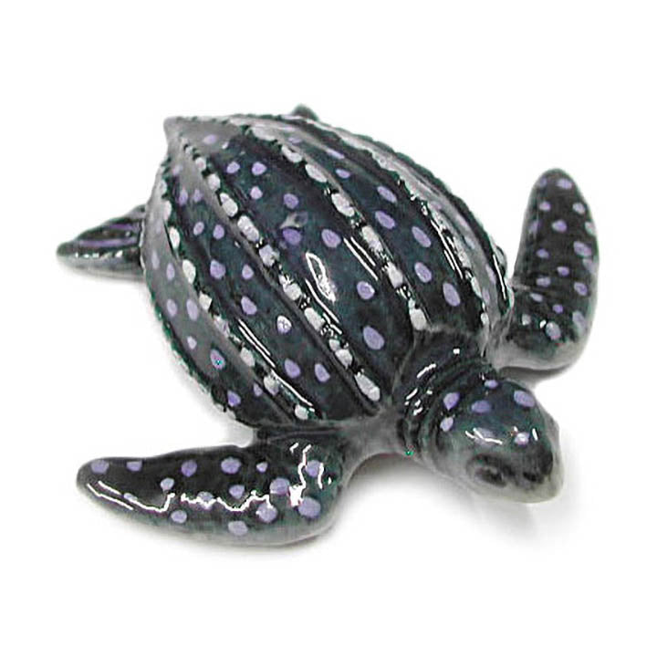 miniature porcelain leatherback turtle figurine
