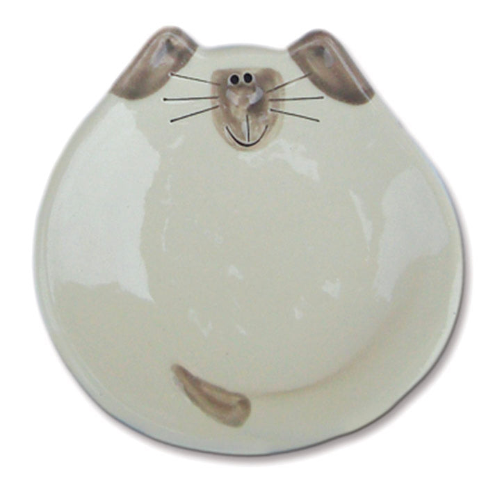 "5"" siamese cat spoon rest dish"