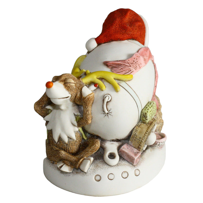 harmony kingdom mail shot santa back view with reindeer