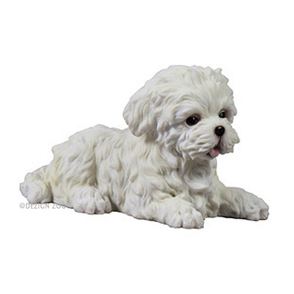 maltese puppy dog figurine
