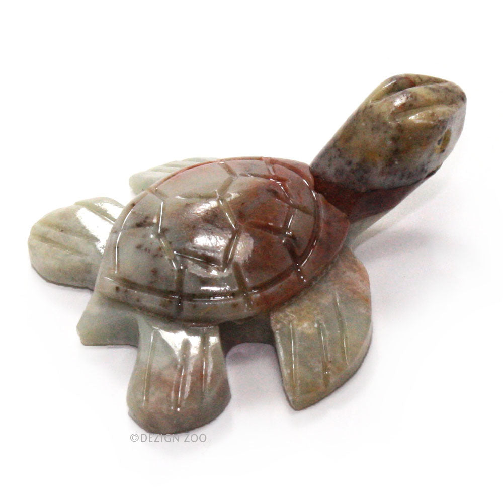 mini stone sea turtle figurine