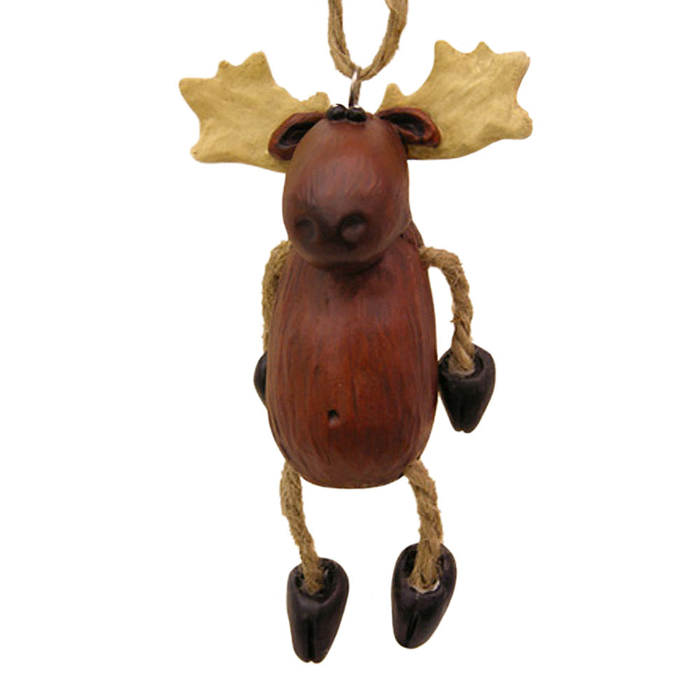 resin and jute moose ornament