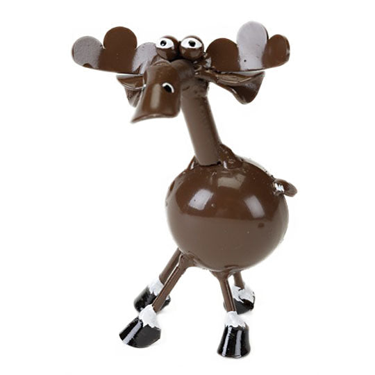 metal sculpture moose figurine