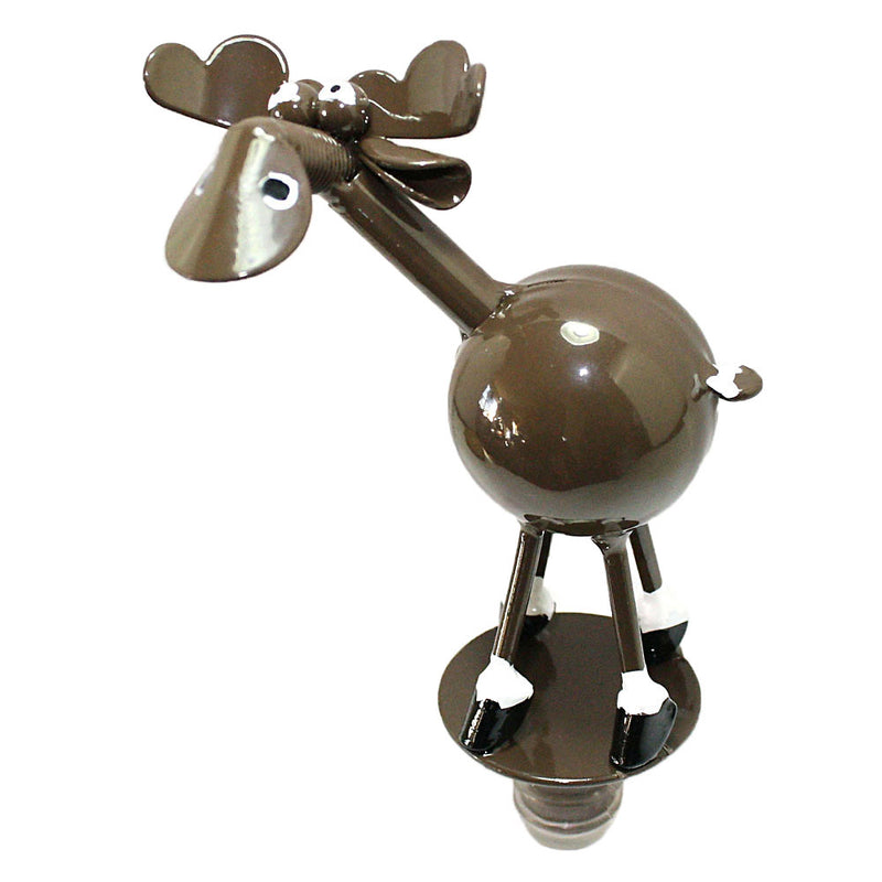 metal spoon sculpture moose bottle stopper
