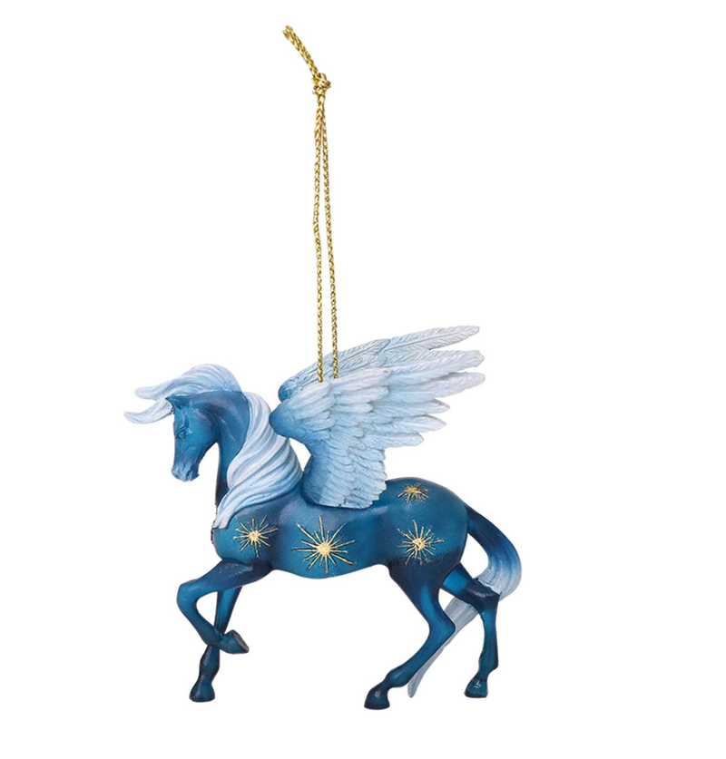 trail of painted ponies night flight winged horse ornament full view