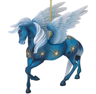 trail of painted ponies night flight winged horse ornament